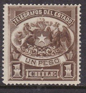 CHILE ^^^^^BOB   1883 YT# T1  mint ng  TELEGRAPH CLASSIC @ dccc403chile
