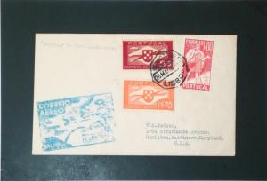 Portugal 1939 Lisbon to USA First Flight Cover - Z3355