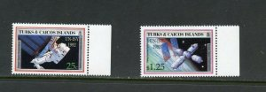 TURKS & CAICOS  1992  SPACE  UN-ISY 1992 SET  MINT  NEVER HINGED