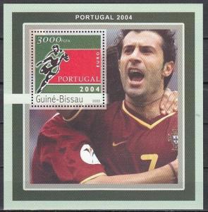 Guinea Bissau, Mi Cat. 2086, BL387 A. Euro Portugal Soccer s/sheet