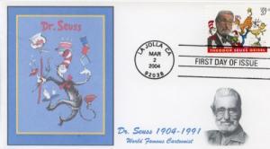 2004 Dr Seuss Theodor Seuss Geisel (Scott 3835) USA FDC
