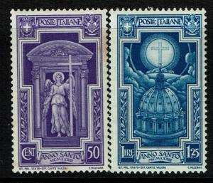 Italy SC# 312 and 313, Mint Never Hinged, 312 minor toning - Lot 012217