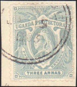 Uganda #72, Incomplete Set, On Piece, 1902, Used