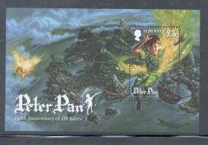 Alderney Sc 389 2010 Peter Pan stamp sheet mint NH