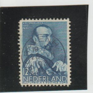 Netherlands  Scott#  B80  Used  (1935 J.P. Sweelinck)