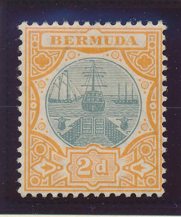 Bermuda Stamp Scott #36, Mint Hinged