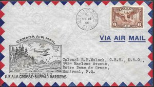 Doyle's_Stamps: Canadian Postal History: Ile a La Crosse-Buffalo Narrows 1st Flt