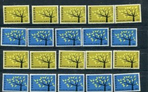 D093707 Europa CEPT 1962 Tree with 19 Leaves Wholesale 10 Series MNH Netherlands