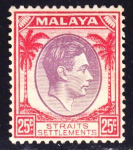 Malaya Straits Settlements Scott 246   F to VF mint OG HH.