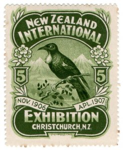 (I.B) New Zealand Cinderella : International Exhibition (Christchurch 1906)
