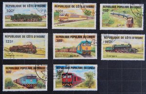 Trains, Republic of Congo and Cote d'Ivoire, (1672-Т)