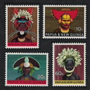 Papua New Guinea MNH 125-8 National Heritage Headdresses