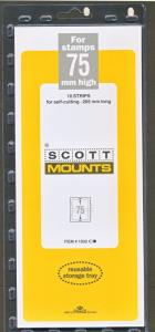 Prinz/Scott Stamp Mount 75/265 CLEAR Background Pack of 10