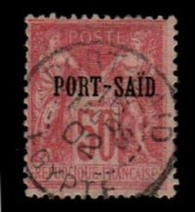 French Offices in Port Said Scott 12a Used