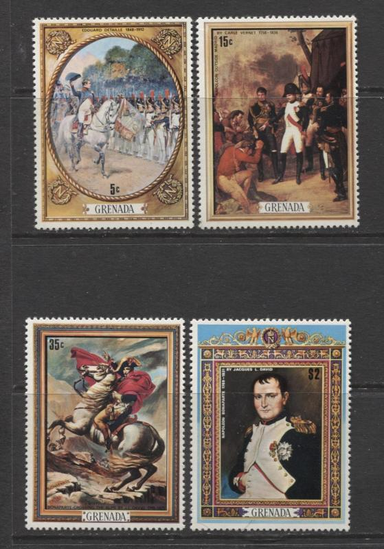 Grenada -Scott 413-16- Death of Napoleon Issue -1971 -MLH- Set of 4 Stamps