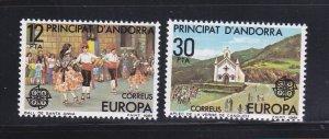Andorra Spanish 126-127 Set MNH Europa (B)
