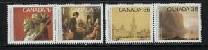 Canada 850a and 852a NH 1980 pairs