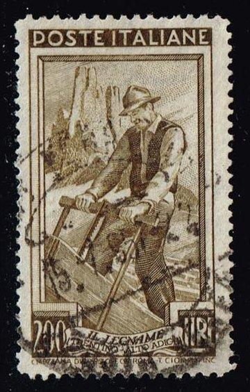 Italy #567 Woodcutter; used (3.25)