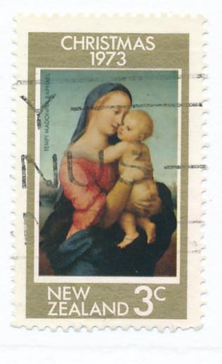 New Zealand 1973 Scott 525 used - 3c, Christmas