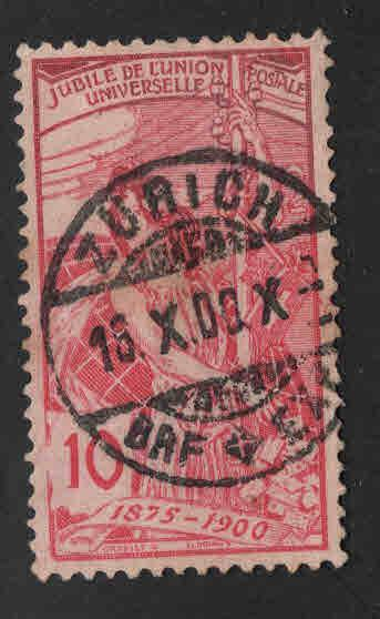 Switzerland Scott 99 used UPU stamp