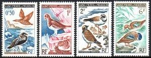 St Pierre & Miquelon 362-365, MNH.Birds:Ducks,Rock plarmigan,Ringed plovers,1963