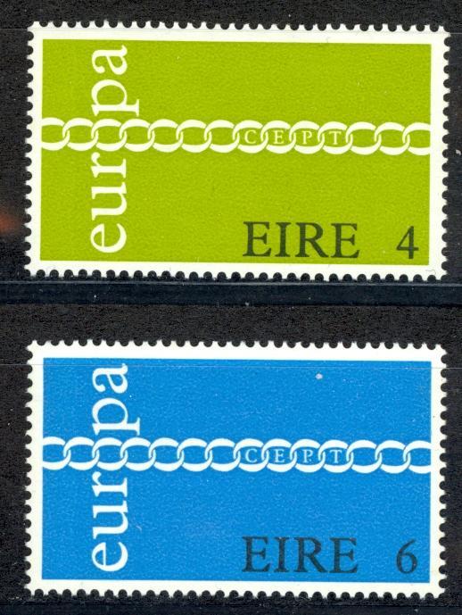 Ireland Sc# 305-306 MNH 1971 Europa