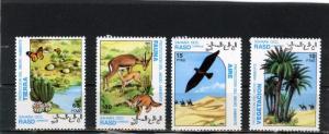 SAHARA 1992 WILD ANIMALS/NATURE SET OF 4 STAMPS MNH