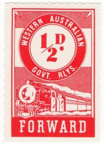 (I.B) Australia - Western Australia Railways : Parcels ½d
