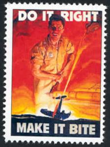 Patriotic WW2 Poster Stamp - Do It Right - Cinderella