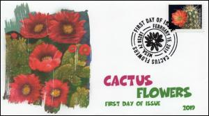 19-060, 2019, Cactus Flowers, Pictorial Postmark, FDC,