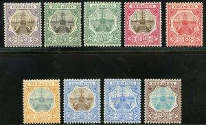 BERMUDA  SCOTT#31/39  MINT HINGED REMNANTS  SCOTT VALUE $198.00