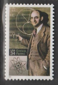 U.S. Scott #3533 Enrico Fermi Stamp - Mint NH Single