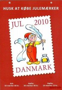 Denmark. Christmas Seal. 2010. 1 Post Office,Display,Advertising Sign. Santa
