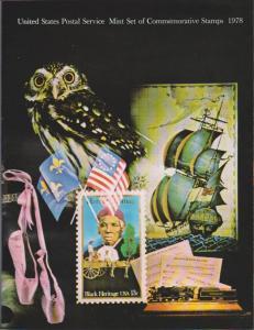 USA -1978 SOUVENIR MINT SET-MINI ALBUM. LOT#US266