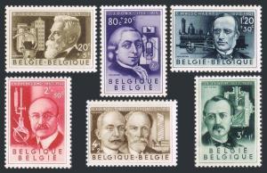 Belgium B573-B578,MNH.Michel 1022-1027. Belgian scientists,1955.Ernest Solvay,