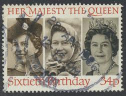 Great Britain SG 1319 - Used -QE II 60th Birthday