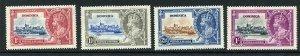 Dominica SG92/95 1935 Silver Jubilee M/M