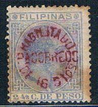 Philippines 102 MLH King Alfonso stains 1881 (P0263)