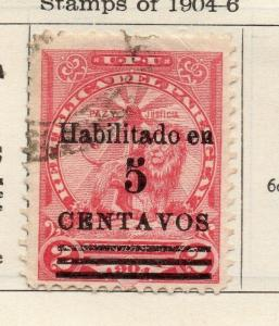 Paraguay 1907-09 Early Issue Fine Used 5c. Surcharged 181423