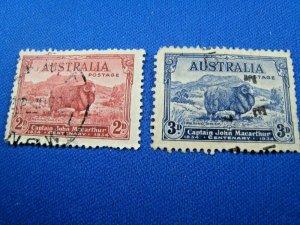 AUSTRALIA  1934  -  SCOTT # 147-148   USED