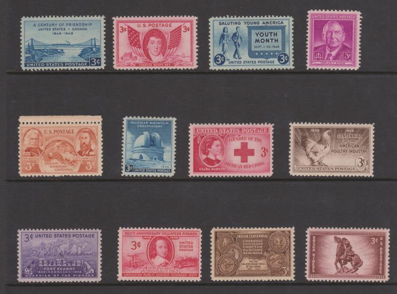 USA 1948 Commemoratives Sc#953-980 Mint