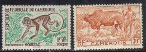 CAMEROUN SC# 305+358 **MH**  1947-62    SEE SCAN