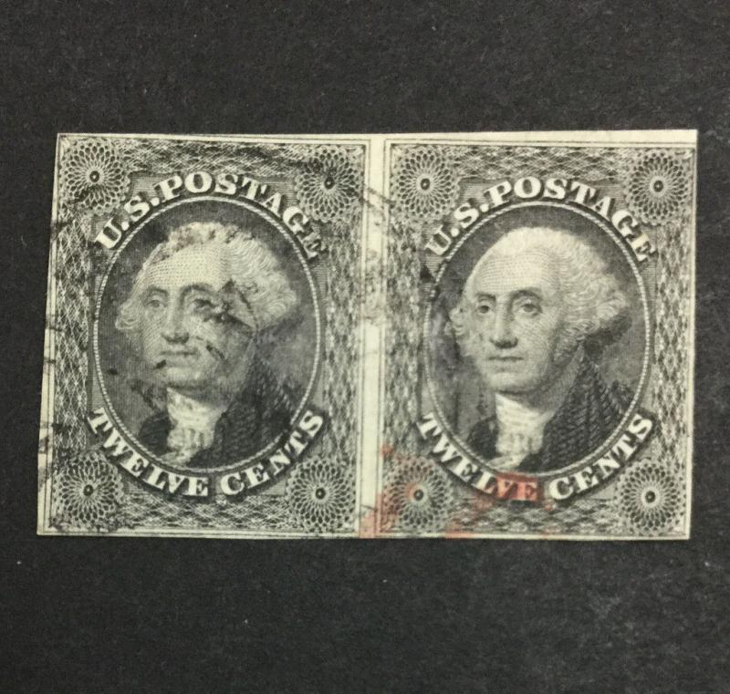 US #17 PAIR IMPERF USED $600 LOT #8297