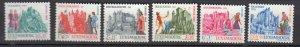 J25858  jlstamps 1969 luxembourg set mnh #b270-5 castles