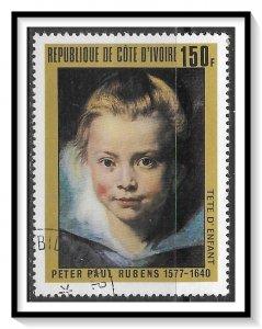 Ivory Coast #452 Rubens Paintings CTO