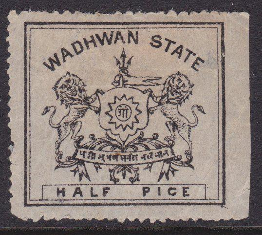 INDIA WADHWAN 1888-94 ½p thin toned wove paper SG2 mint with full gum.......5187