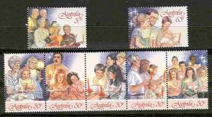 Australia # 1044-46 Christmas 1987 (7) Mint NH