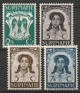 Suriname 1938 Sc B26-9 set MLH