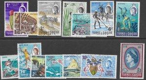 Turks & Caicos 158-71    1967 set  14  fvf  used