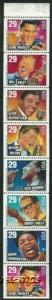 US #2731/2737a Bk Pane $2.32(8x29c)American Music, 1993, MNH, (PCB-1)
